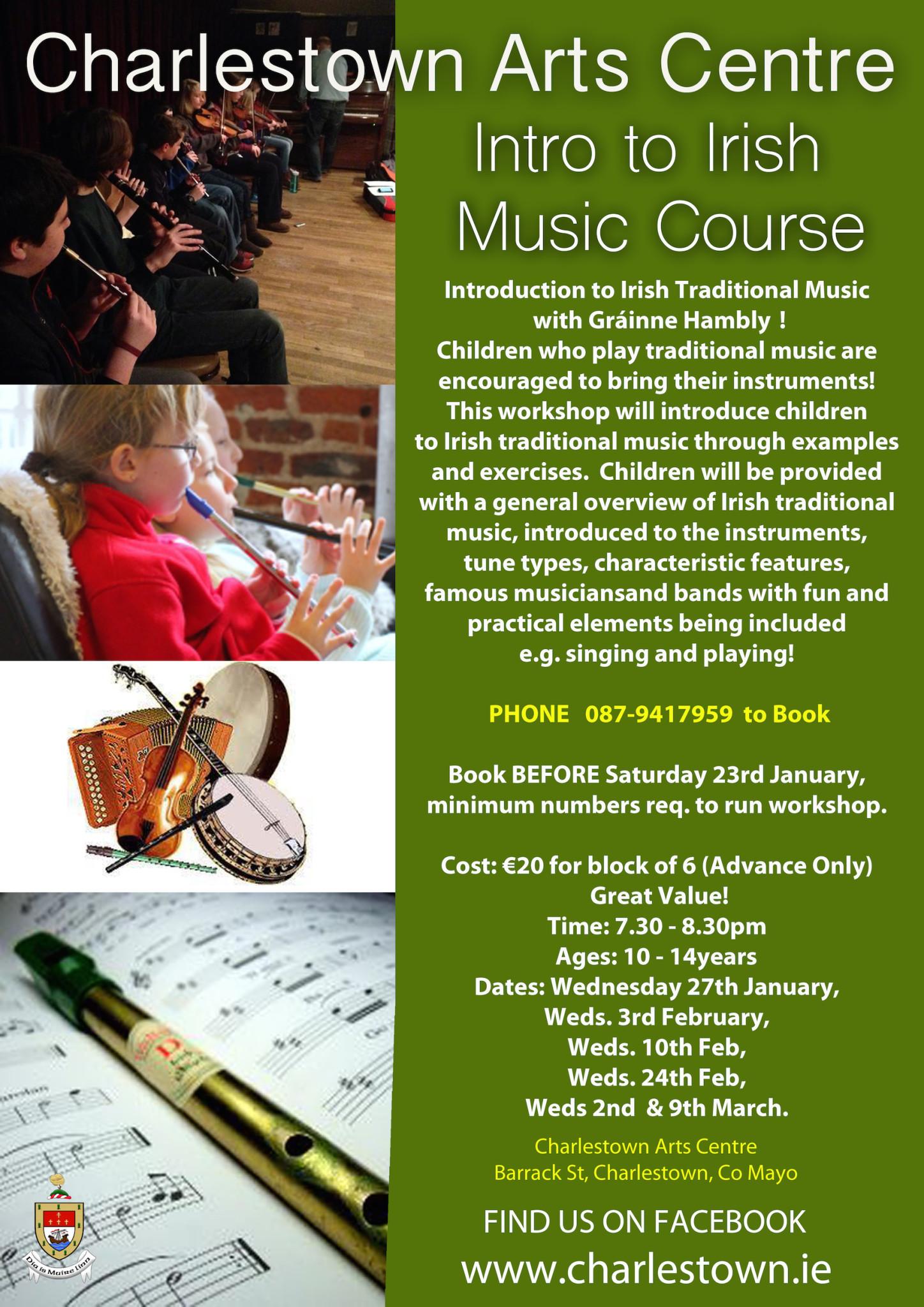 Introduction to Irish Traditional Music (6 Weeks) - Charlestown
